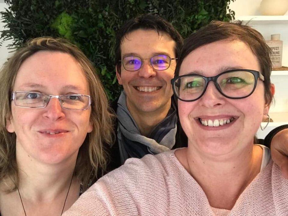 Fabienne Bizet, Jacques Birolini et Delphine Debauve